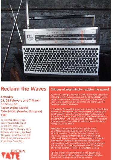 Reclaim the Waves flyer A4