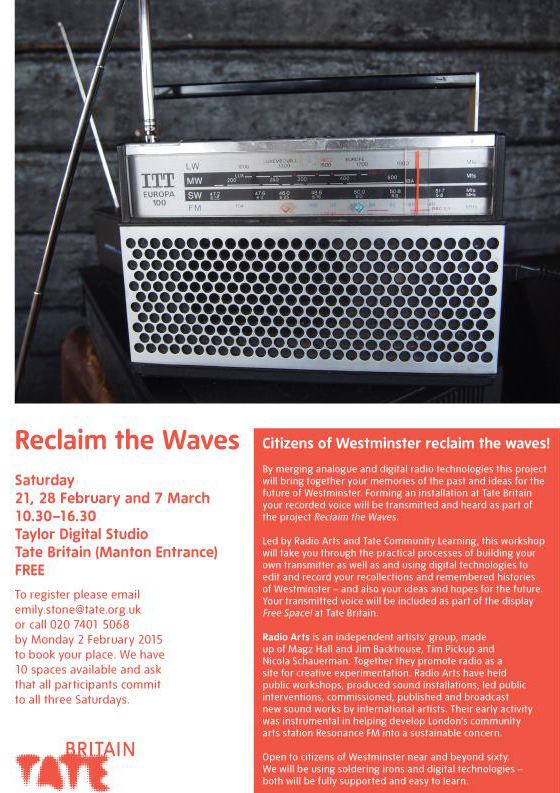 reclaim the waves tate b poster
